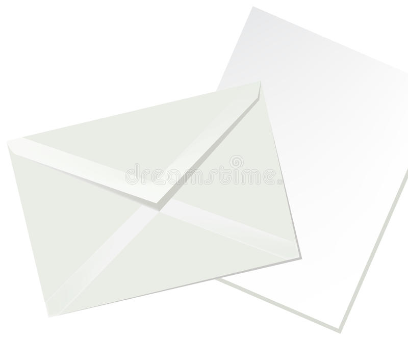 Download Letter Envelope And White Paper Stock Vector - Image: 21228349
