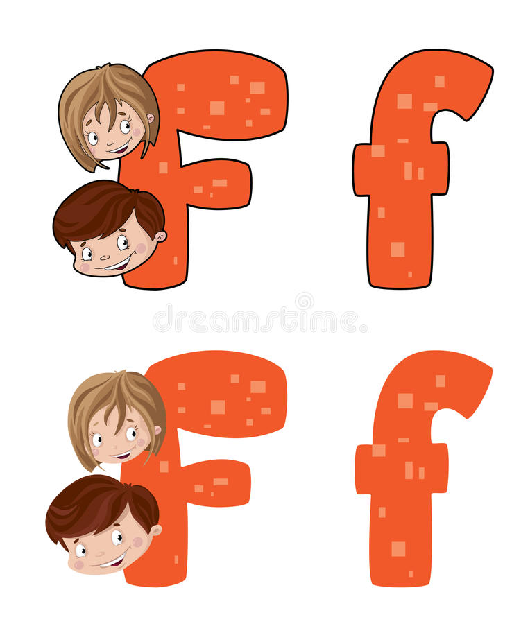 Download Letter F face stock vector. Image of alphabet, sign, type - 26327065