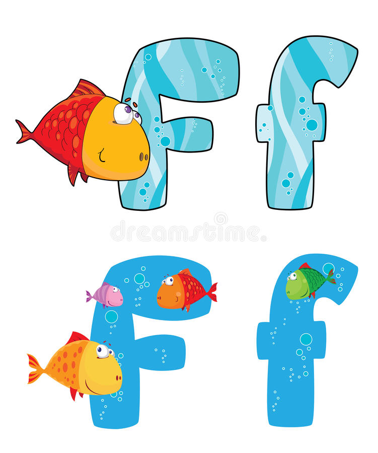 Download Letter F fish stock vector. Image of type, cartoon, alphabet - 26291167