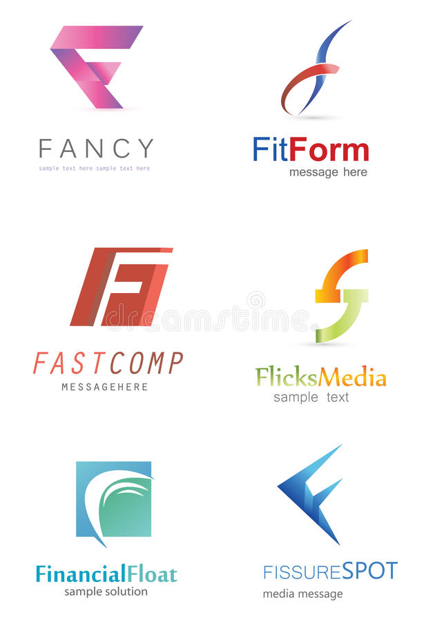 Letter F Logo. Alphabetical Logo Design Concepts. Letter F vector illustration