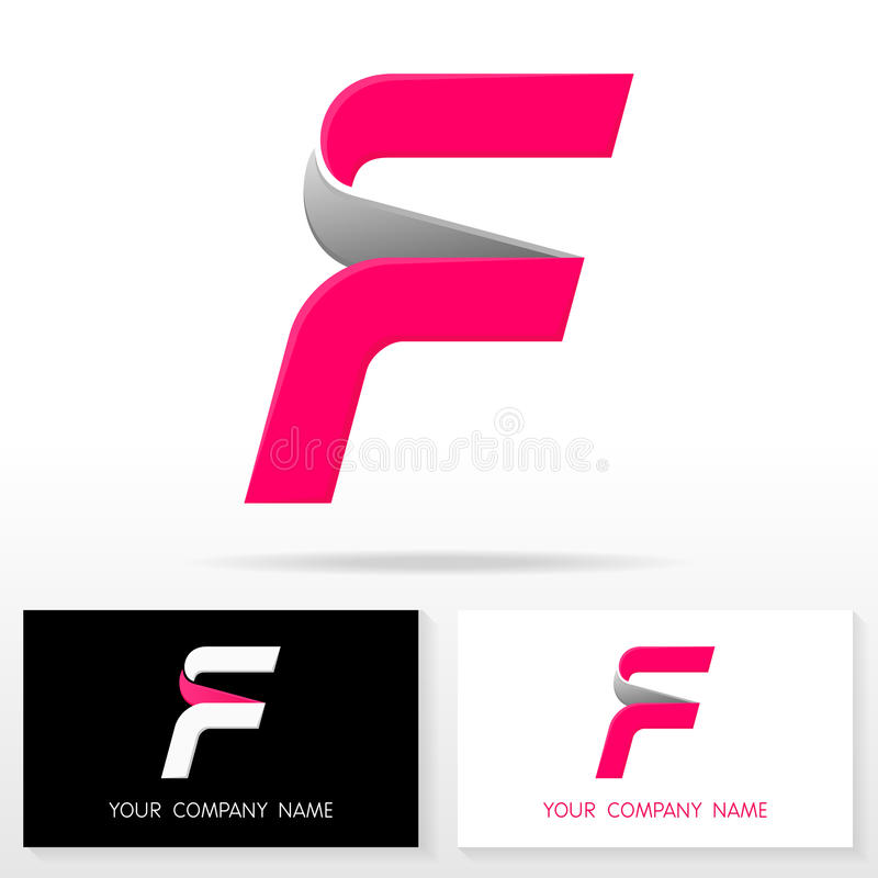 Letter F Logo Icon Design Template Elements - Illustration Stock ...