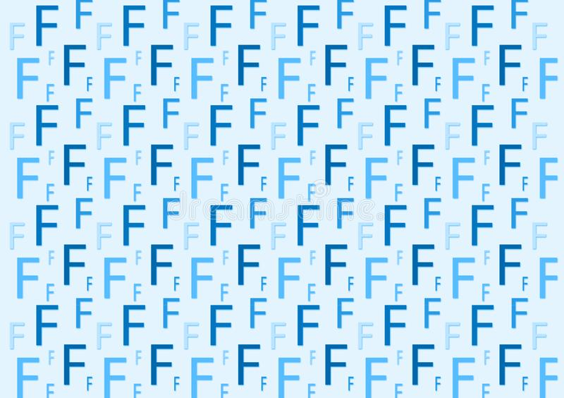 Letter F pattern in different colored blue shades for wallpaper. Design background vector illustration