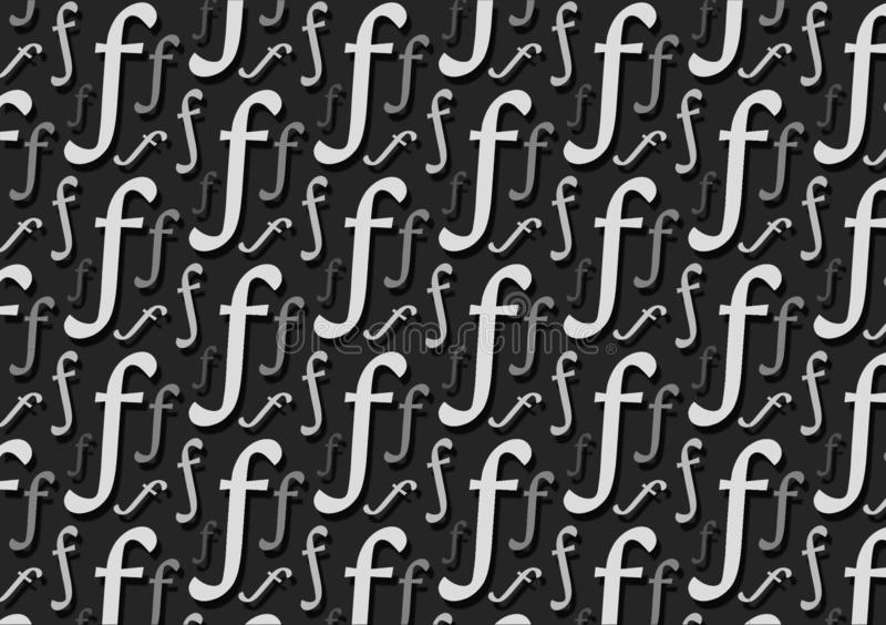 Letter F pattern in different colored grey shades for wallpaper. Or with design layouts royalty free illustration
