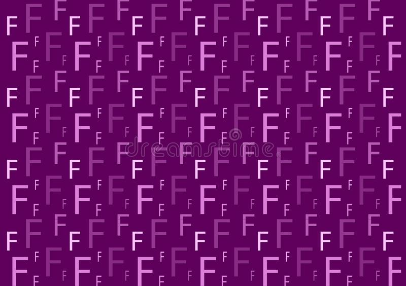 Letter F pattern in different colored purple shades for wallpaper. Design background vector illustration