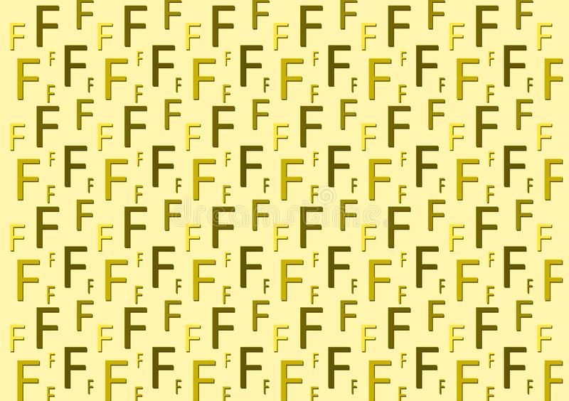 Letter F pattern in different colored shades for wallpaper. Design background royalty free stock photos