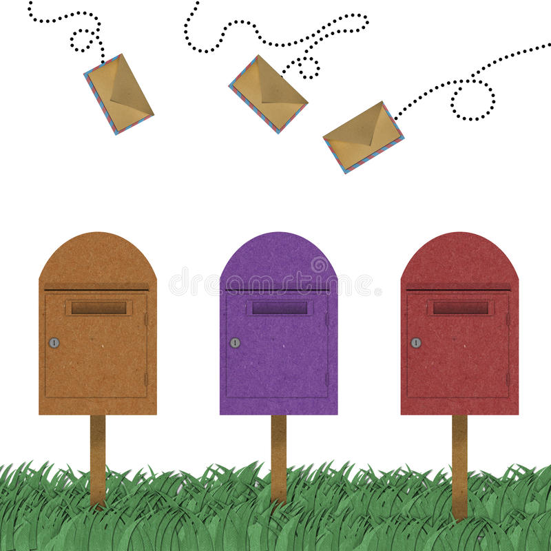 Download Letter Flying Above Of Postal Box Royalty Free Stock Photos - Image: 23966048