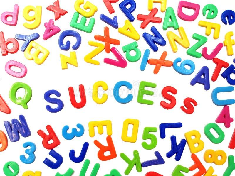 Letter fridge magnets - Success royalty free stock image