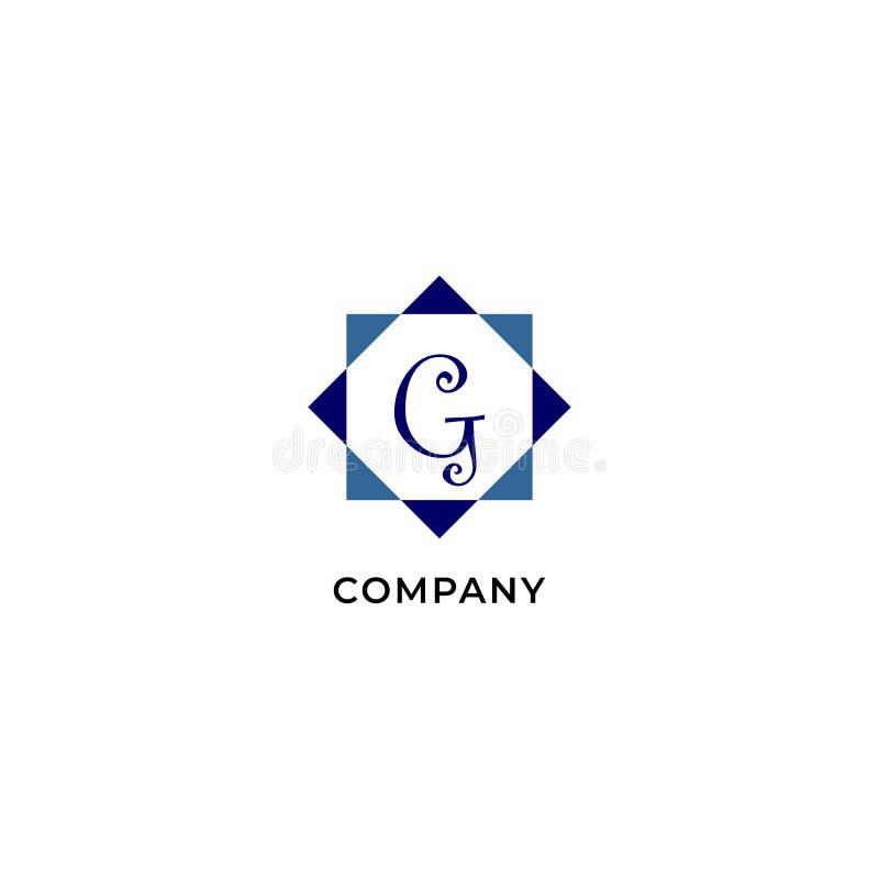 Letter G Alphabetic Logo Design Template, Development company Logo Concept иллюстрация вектора