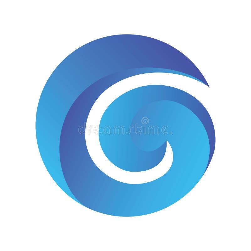 Letter G Blue Gradient Logo Vector royalty free illustration