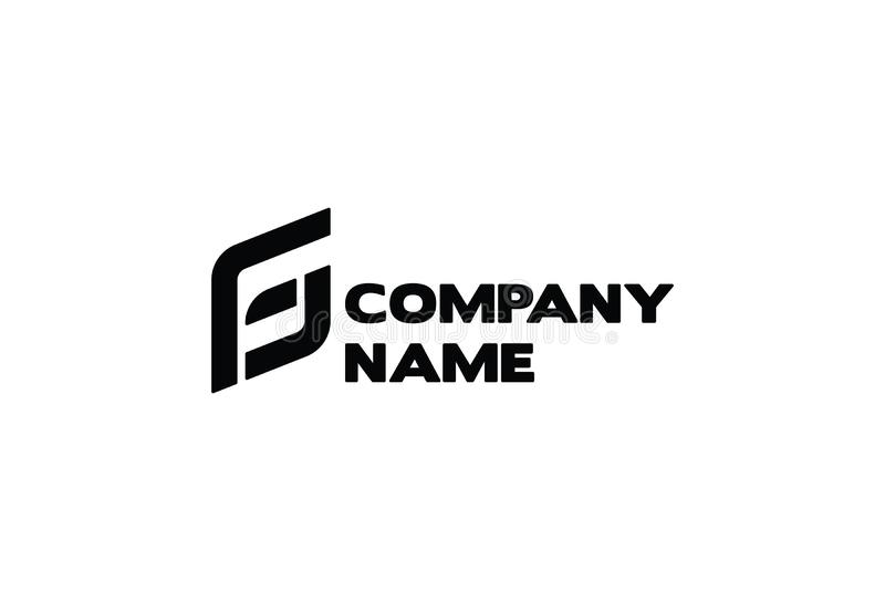Letter G & F business company vector logo royalty free illustration