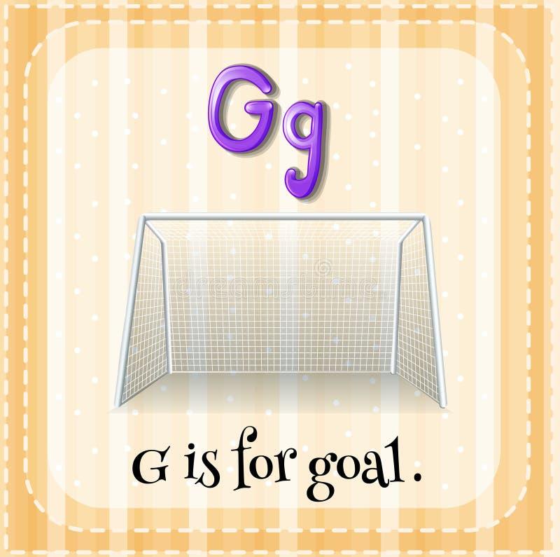 Letter G. Flashcard letter G is for goal royalty free illustration