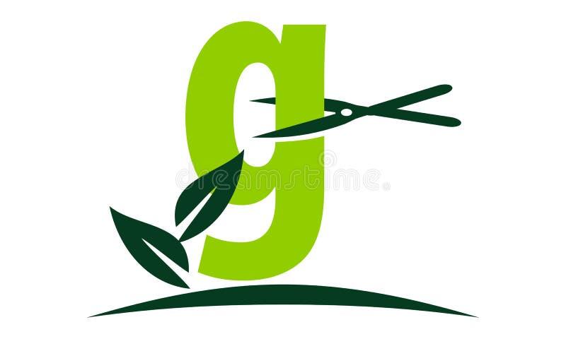 Letter G Lawn royalty free illustration