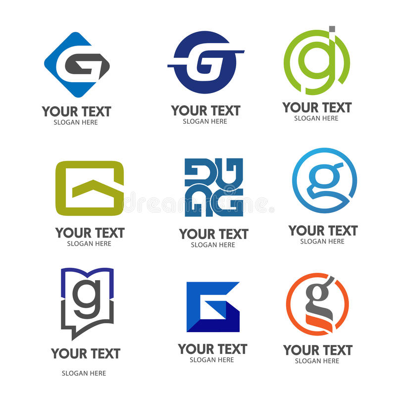 Letter G logo vector stock illustration