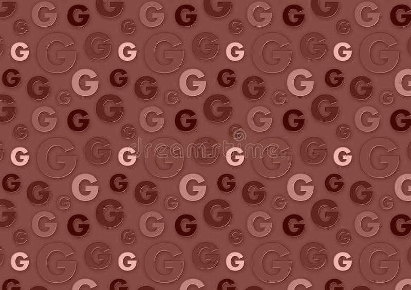 Letter G pattern in different color brown shades pattern. For wallpaper royalty free stock images