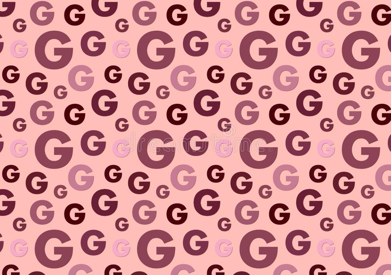 Letter G pattern in different color shades pattern. For wallpaper vector illustration