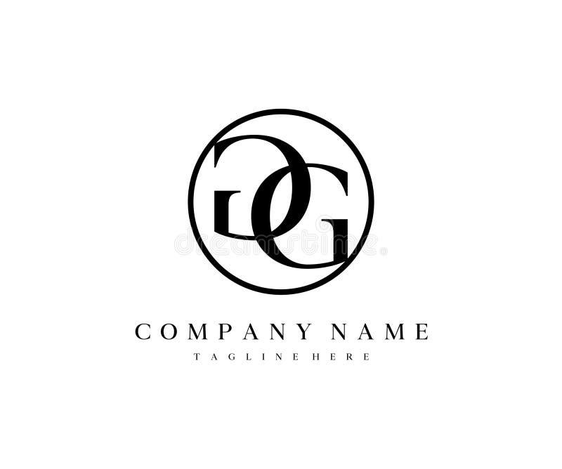 Letter GG Mirror Logo Design. Template vector illustration