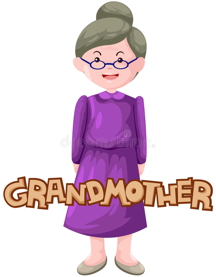 Download Letter of grandmother stock vector. Illustration of drawing - 25530253