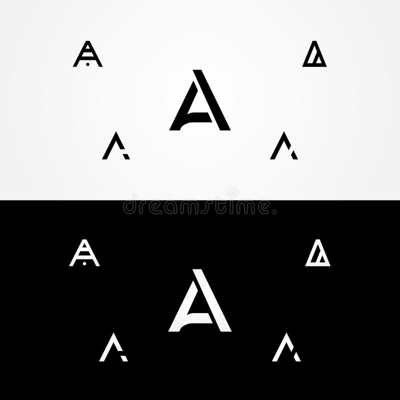 Letter `A` great big logo pack company. Various Letter `A` big logo pack for your company royalty free stock photo