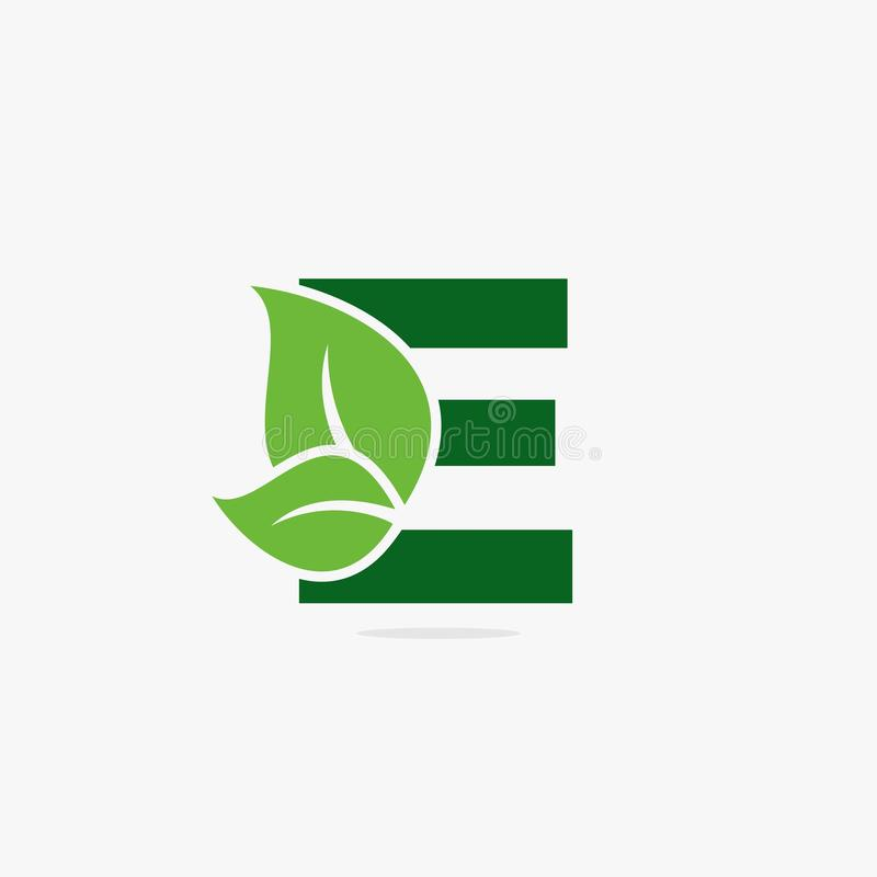 Letter green leaf logo illustration. royalty free stock photos