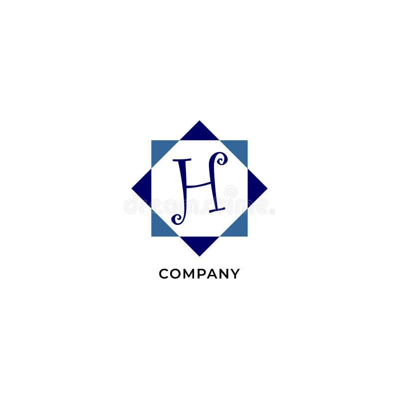 Letter H Alphabetic Logo Design Template, Development company Logo Concept иллюстрация штока