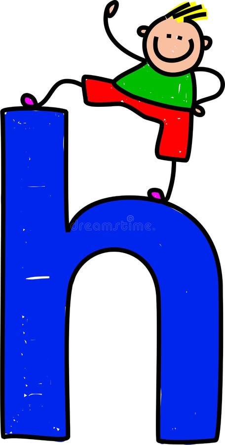 Letter H boy stock illustration