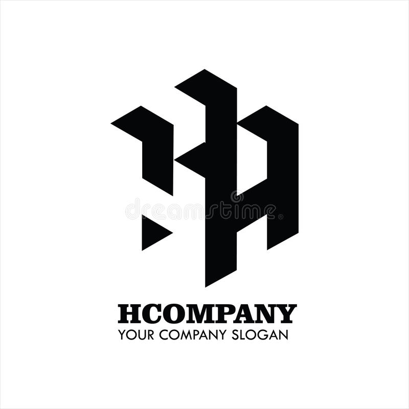 Letter H Company Logo Vector images stock