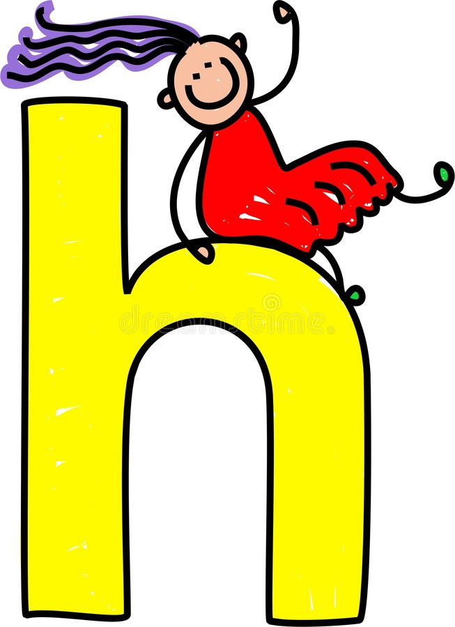 Download Letter H girl stock illustration. Image of classroom, child - 3670743