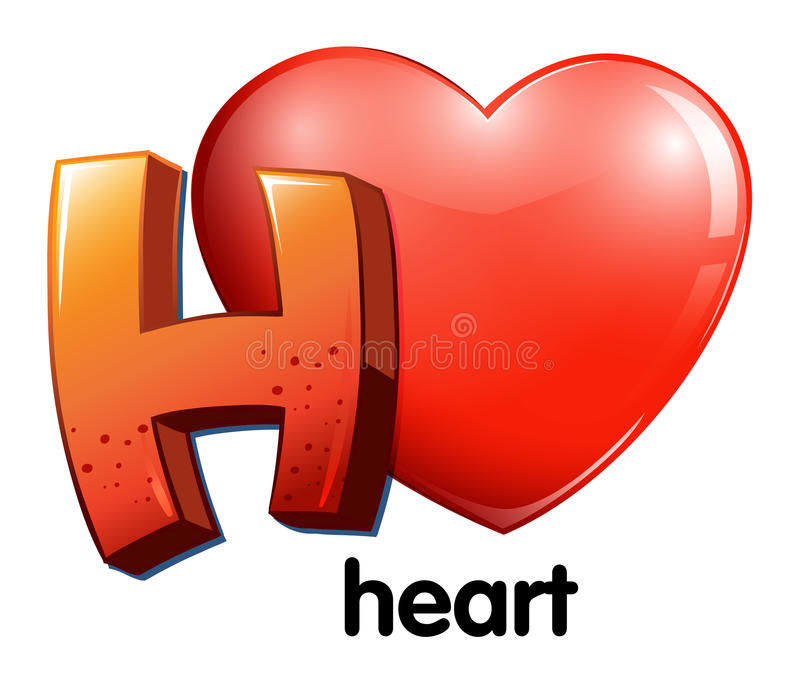 A Letter H For Heart Stock Vector - Image: 43407160