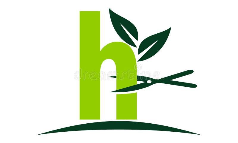 Letter H Lawn. Logo Design Template Vector royalty free illustration