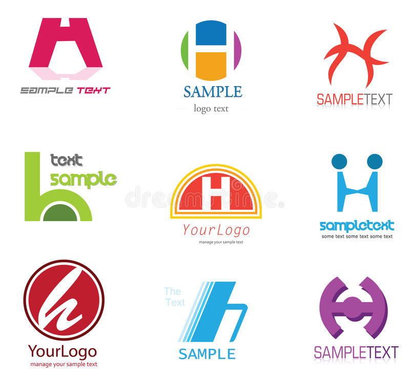 Letter H Logo. Alphabetical Logo Design Concepts. Letter H vector illustration