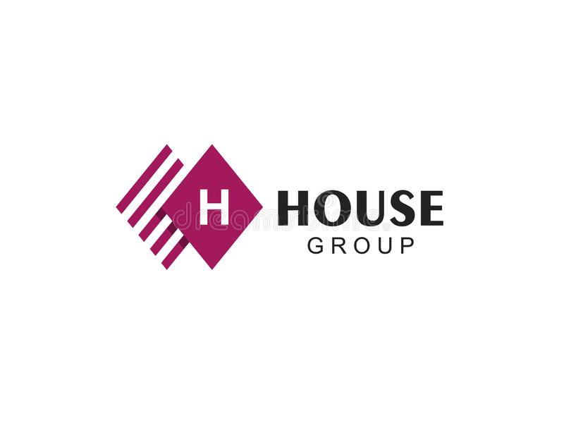 Letter H logo. Abstract logo for business company. royalty free illustration