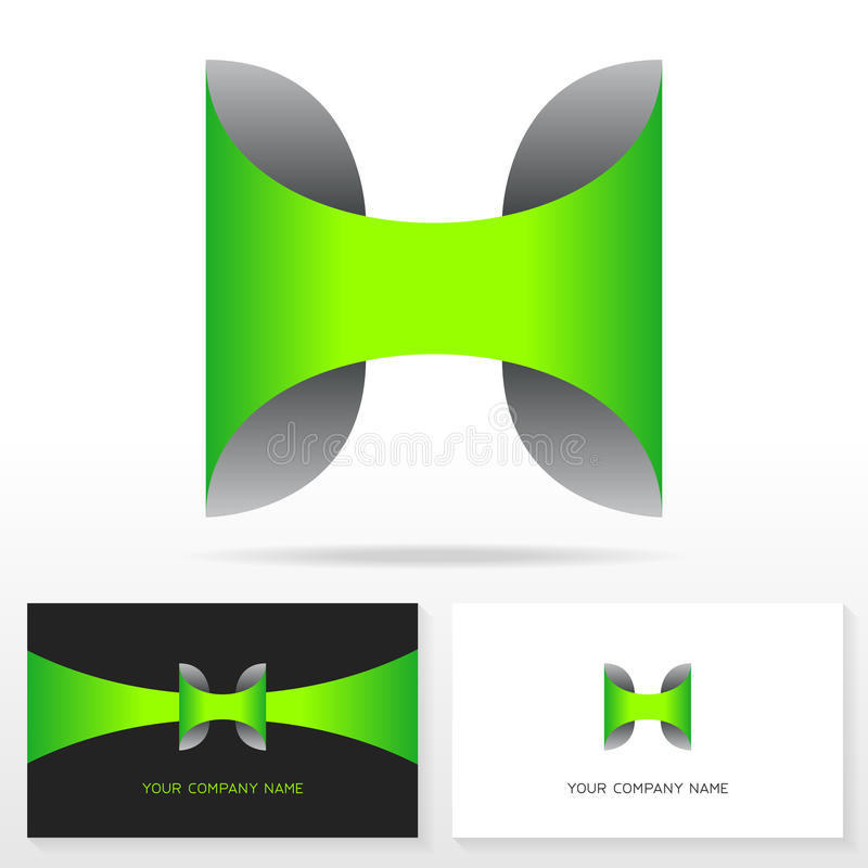 Letter H logo icon design template. Business card templates. Vector illustration stock illustration
