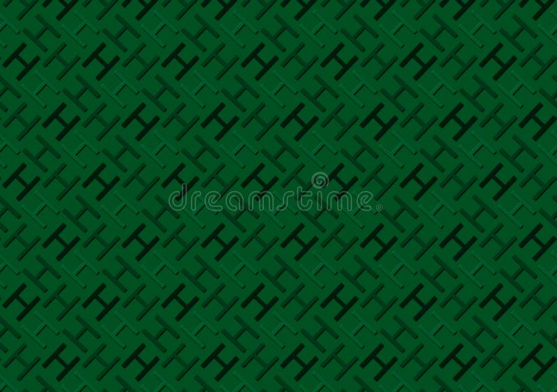 Letter H pattern in different colored green shades for wallpaper royalty free stock photos