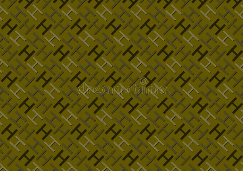 Letter H pattern in different colored shades for wallpaper. Background stock illustration