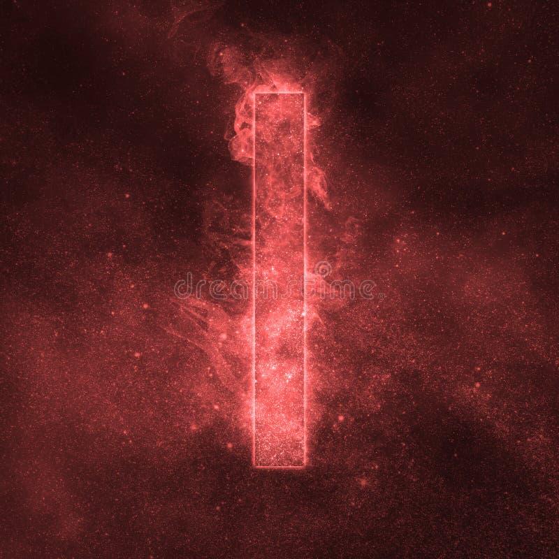 Letter I alphabet symbol. Space Letter, Night Sky Letter. Space letters vector illustration