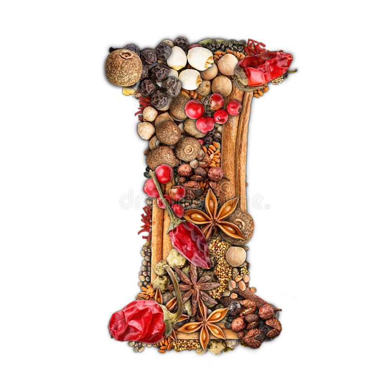 Spices letter royalty free stock photos