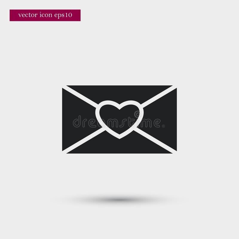 Letter icon. Simple romance element illustration. Valentine symbol design from love collection. Can be used in web and mobile vector illustration