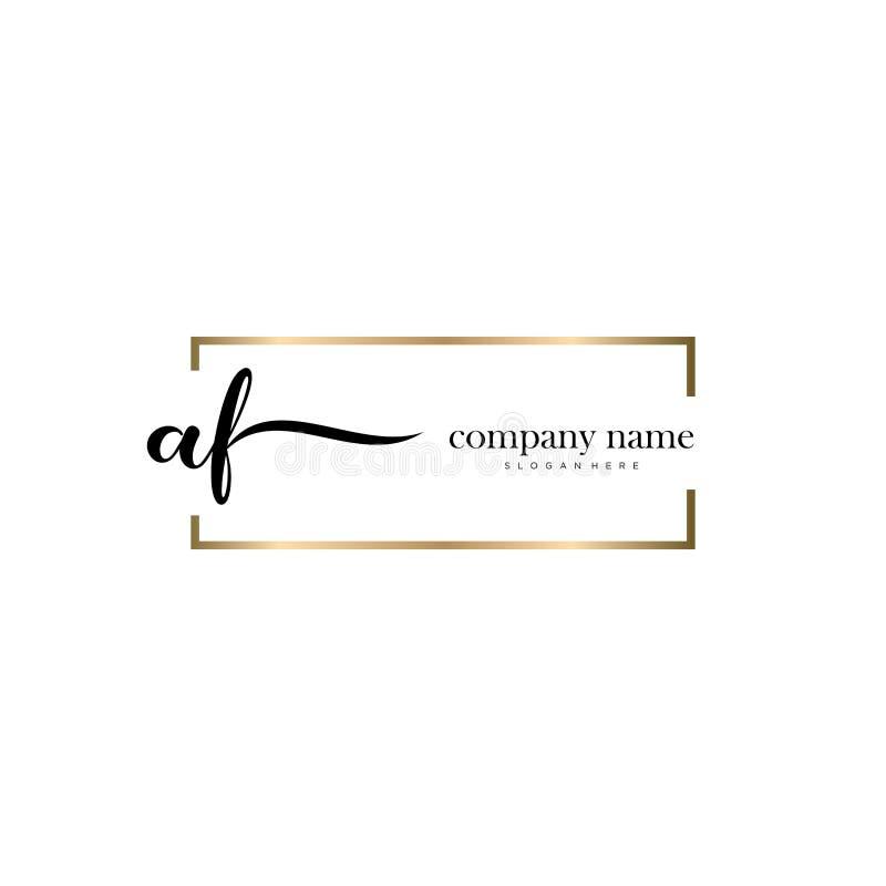 AF initial handwriting logo template vector. stock photos
