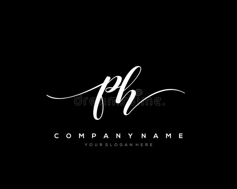Ph Initial Handwriting Logo Template Vector Stock Vector Illustration Of Card Creative 156875553