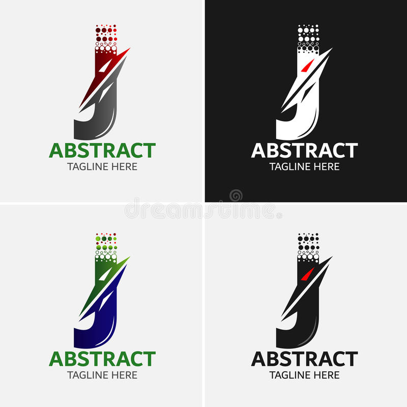 Letter J Logo Icon Design Template Elements Stock Vector ...