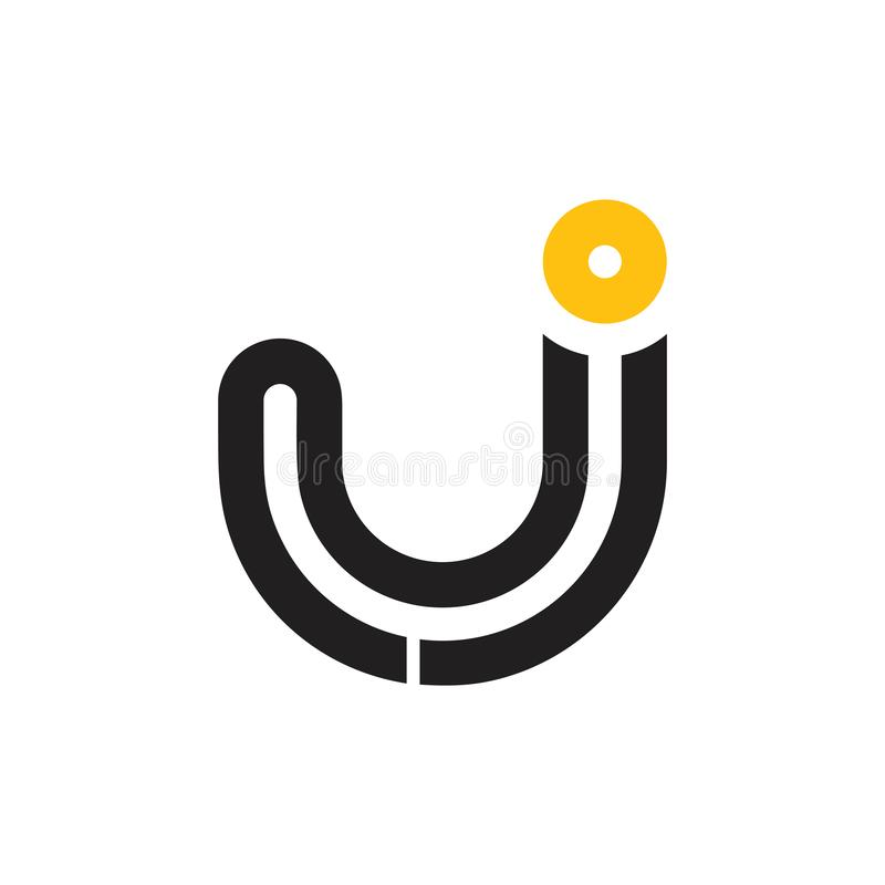 Letter j simple stripes geometric logo vector royalty free stock photography