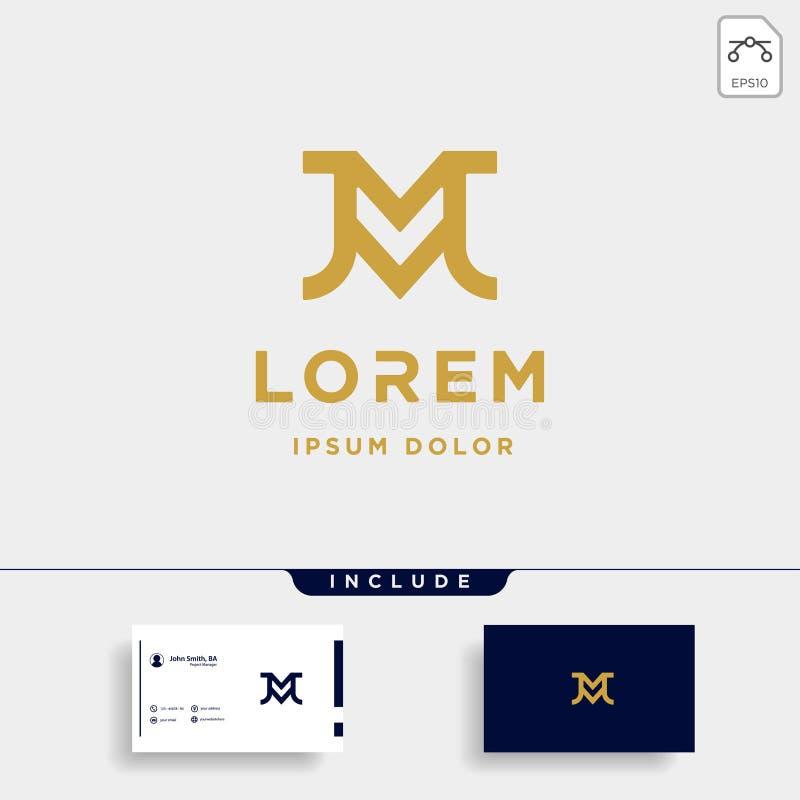 Letter JM MJ M J Monogram Logo Design Minimal. Icon, simple, badge, vector, emblem, line, graphic, symbol, vintage, element, outline, set, stamp, identity vector illustration