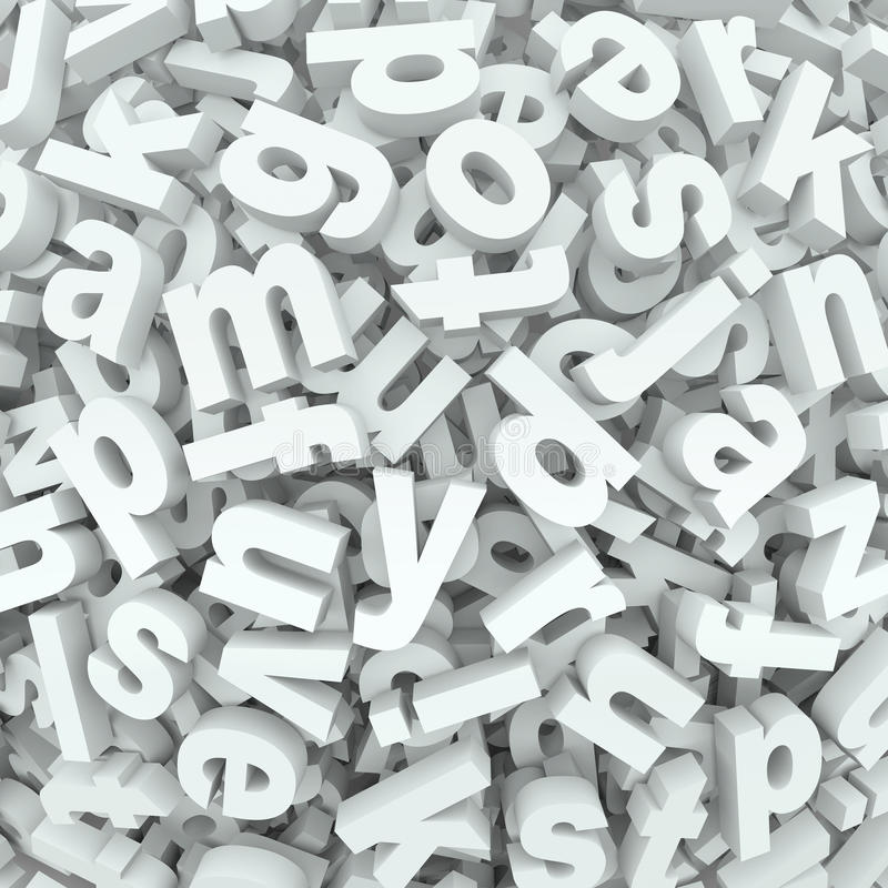 Letter Jumble Background Alphabet Words Spilled Mess Royalty Free Stock Photos