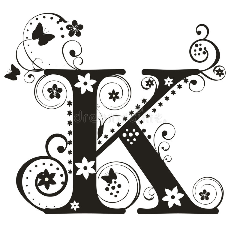 Download Letter K stock vector. Image of flower, character, typeset - 7207216