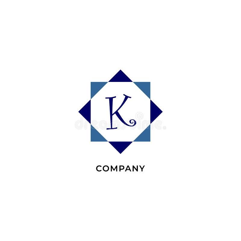Letter K Alphabetic Logo Design Template, Development company Logo Concept иллюстрация вектора