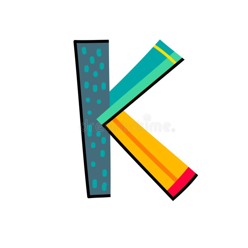 Letter K From English Alphabet. Colorful Logo Template In Modern ...