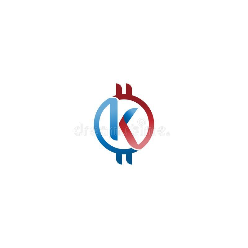 Letter K Logo Cryptocurrency Initial Vector Mark K Letter