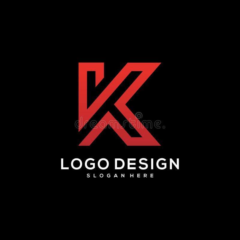 Letter K logo icon design template elements. Concept design template royalty free illustration