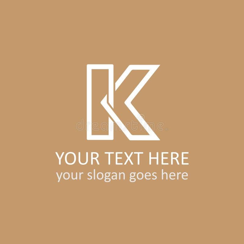 Letter K logo vector design template stock illustration