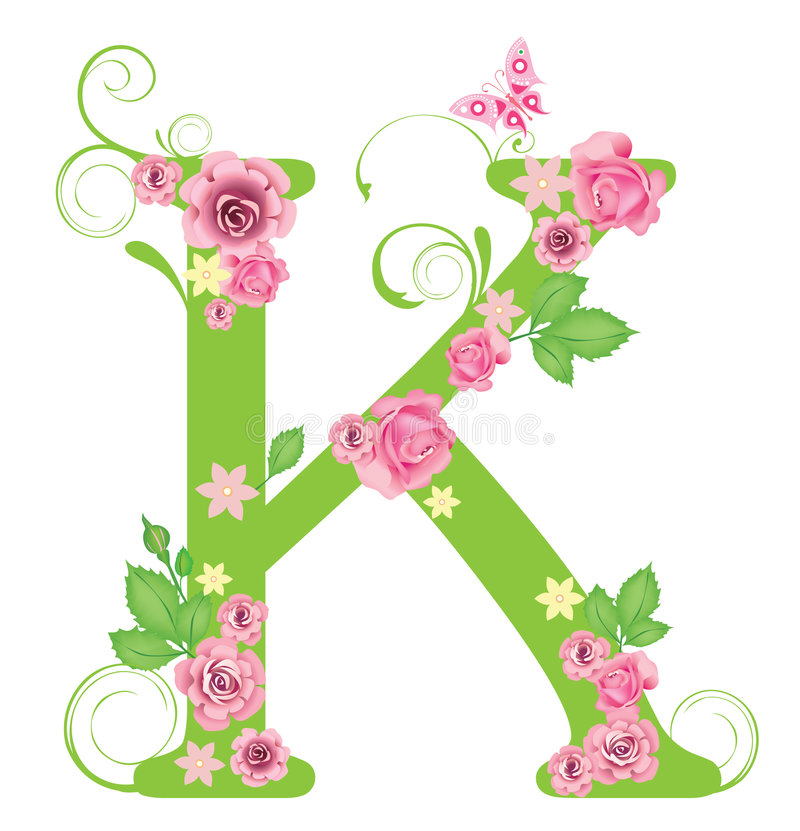 Letter Roses Vector Graphic Branch
